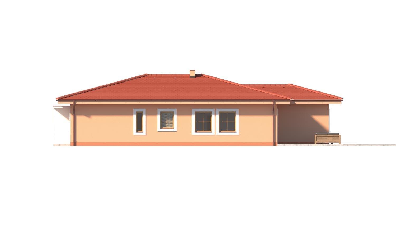 Pohľad 2. - Krásny 5-izbový murovaný bungalov s valbovou strechou a krbom.
