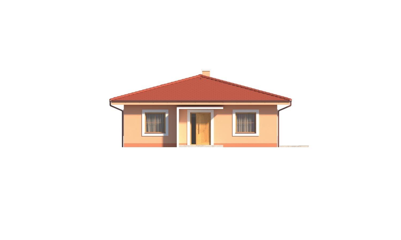 Pohľad 1. - Krásny 5-izbový murovaný bungalov s valbovou strechou a krbom.