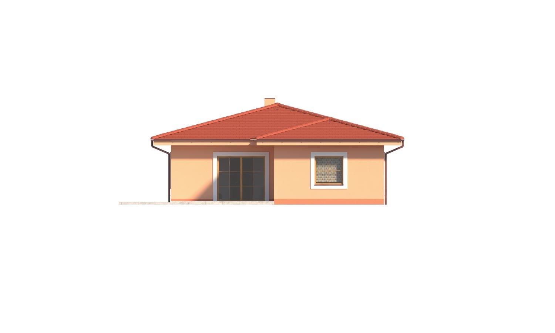 Pohľad 3. - Krásny 5-izbový murovaný bungalov s valbovou strechou a krbom.