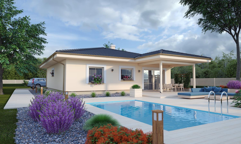 projekt domu BUNGALOW 208
