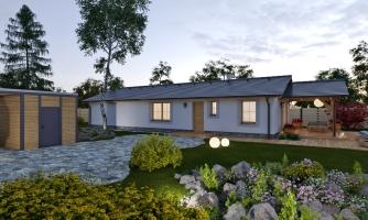 projekt domu BUNGALOW 213