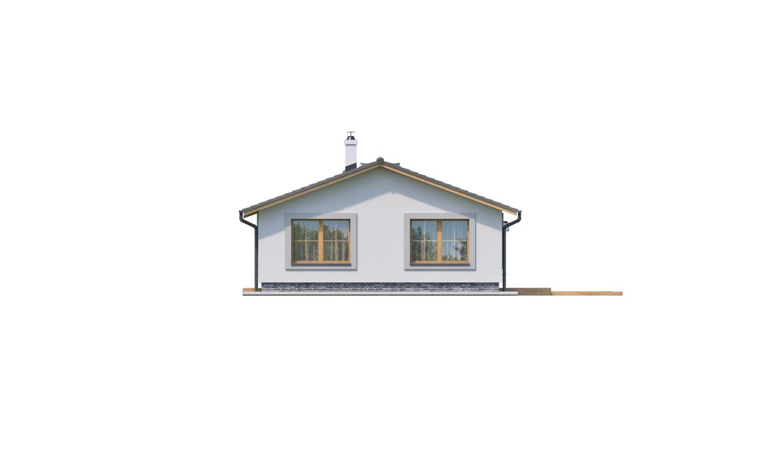 Pohľad 4. - Prízemný 5-izbový rodinný dom vhodný aj na úzky pozemok.