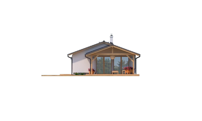 Pohľad 2. - Prízemný 5-izbový rodinný dom vhodný aj na úzky pozemok.