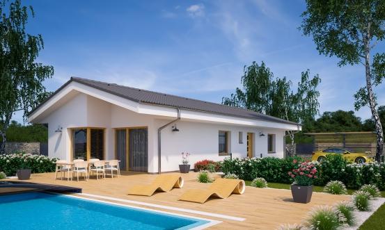 projekt domu BUNGALOW 215