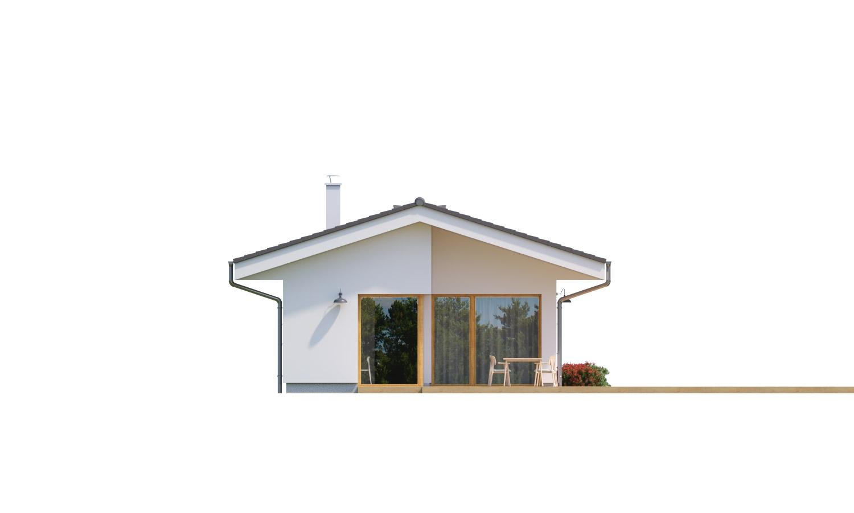 Pohľad 4. - Jednoduchý bungalov na úzky pozemok.