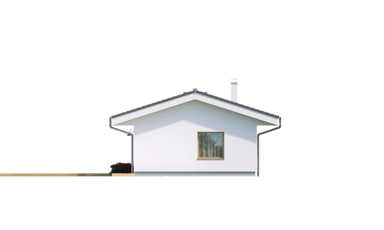 Pohľad 2. - Jednoduchý bungalov na úzky pozemok.
