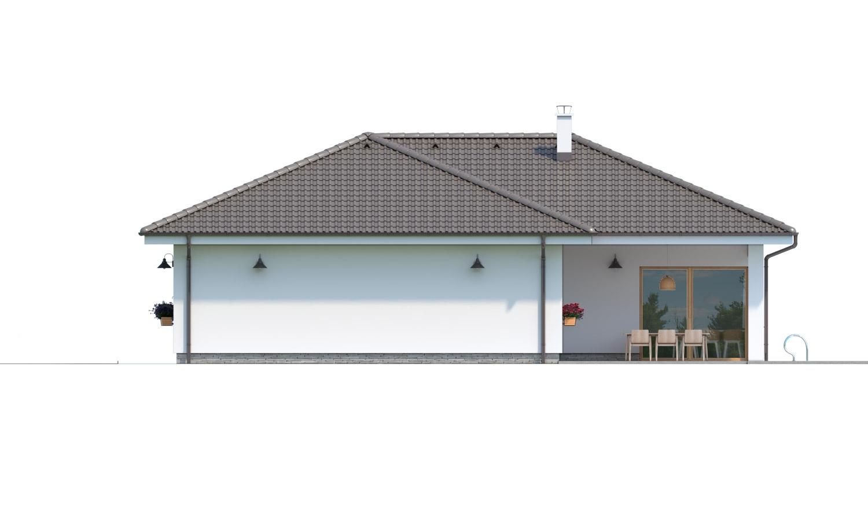 Pohľad 2. - Krásny 5-izbový bungalov do tvaru L s prekrytou terasou.