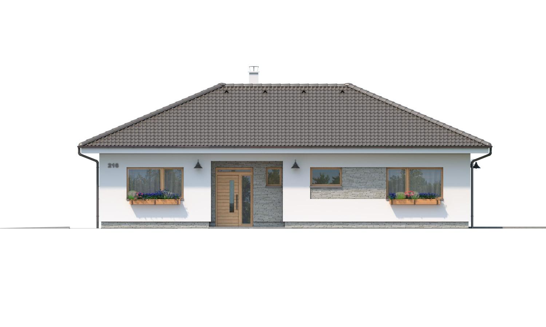 Pohľad 1. - Krásny 5-izbový bungalov do tvaru L s prekrytou terasou.