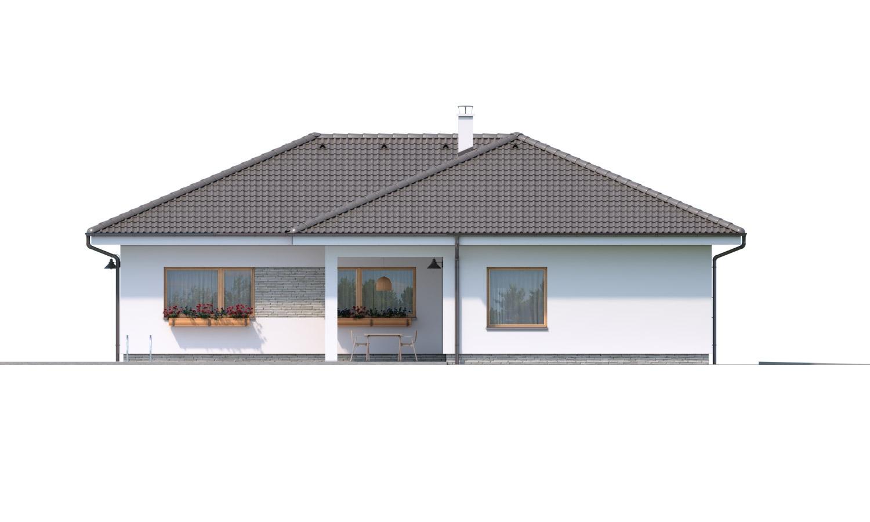 Pohľad 3. - Krásny 5-izbový bungalov do tvaru L s prekrytou terasou.