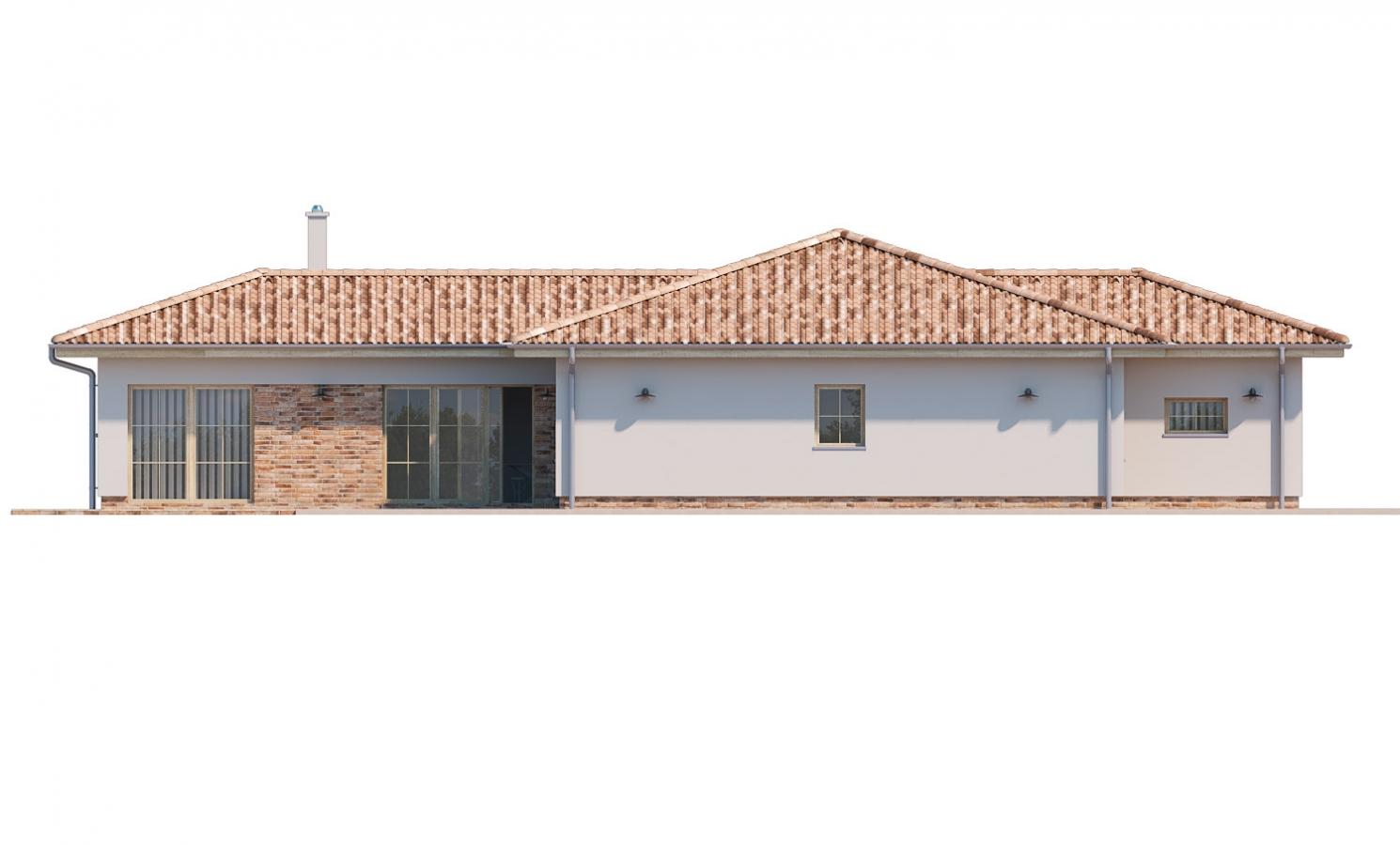 Pohľad 2. - 6 - izbový prízemný dom, do tvaru L, s terasou, ktorá sa dá po malých úpravách využívať celoročne.