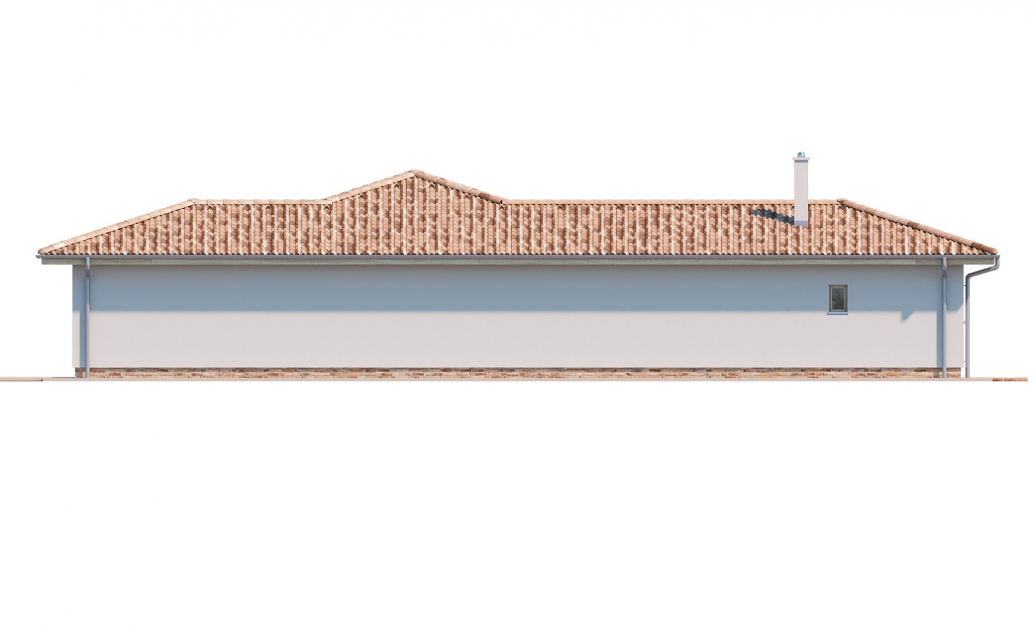 Pohľad 4. - 6 - izbový prízemný dom, do tvaru L, s terasou, ktorá sa dá po malých úpravách využívať celoročne.