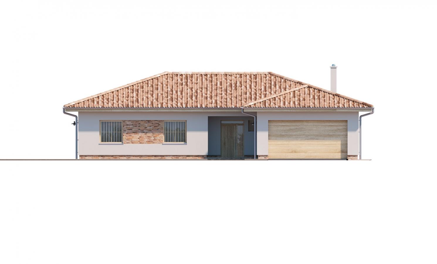Pohľad 1. - 6 - izbový prízemný dom, do tvaru L, s terasou, ktorá sa dá po malých úpravách využívať celoročne.