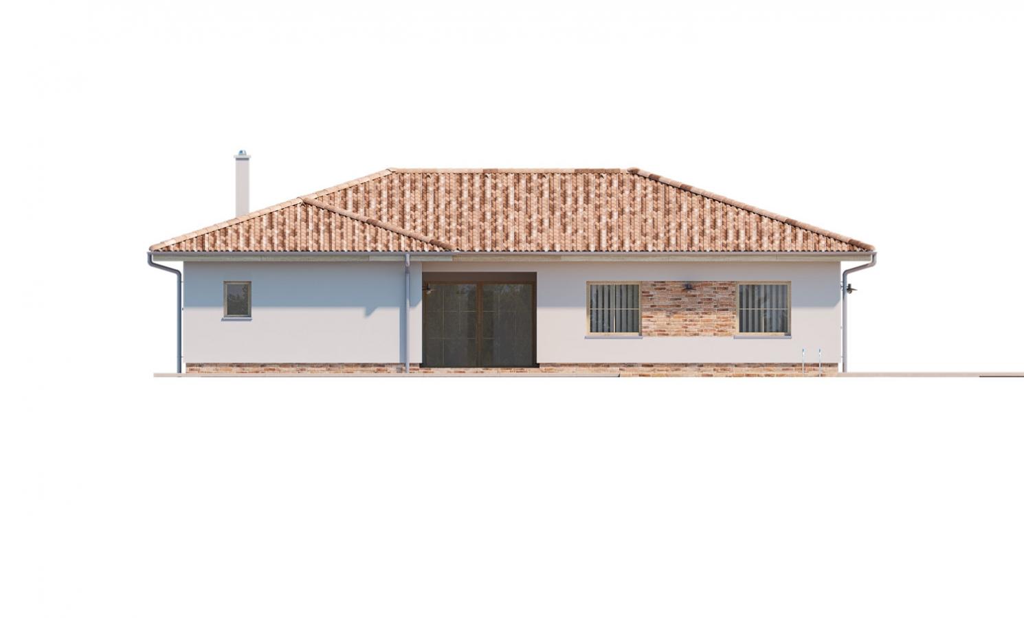 Pohľad 3. - 6 - izbový prízemný dom, do tvaru L, s terasou, ktorá sa dá po malých úpravách využívať celoročne.