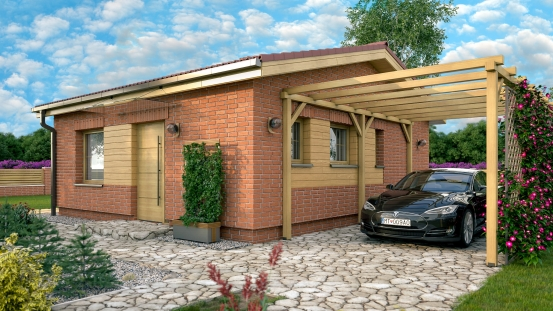 projekt domu BUNGALOW 218