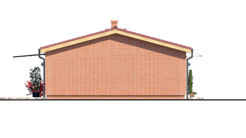 Pohľad 4. - Malý dvojizbový rodinný domček vhodný aj ako rekreačný dom. Jednoduchý a lacný na výstavbu.