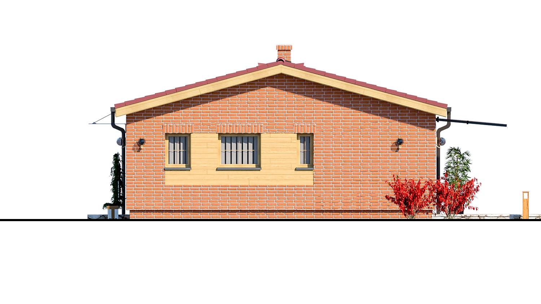 Pohľad 2. - Malý dvojizbový rodinný domček vhodný aj ako rekreačný dom. Jednoduchý a lacný na výstavbu.