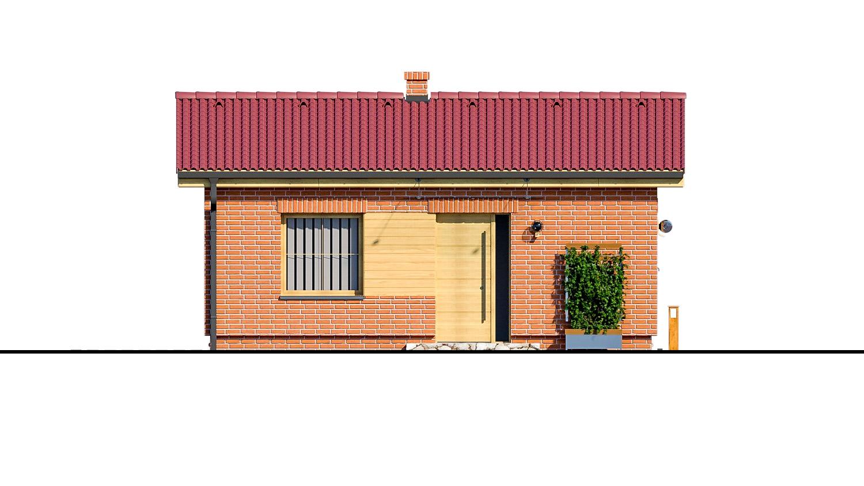 Pohľad 1. - Malý dvojizbový rodinný domček vhodný aj ako rekreačný dom. Jednoduchý a lacný na výstavbu.