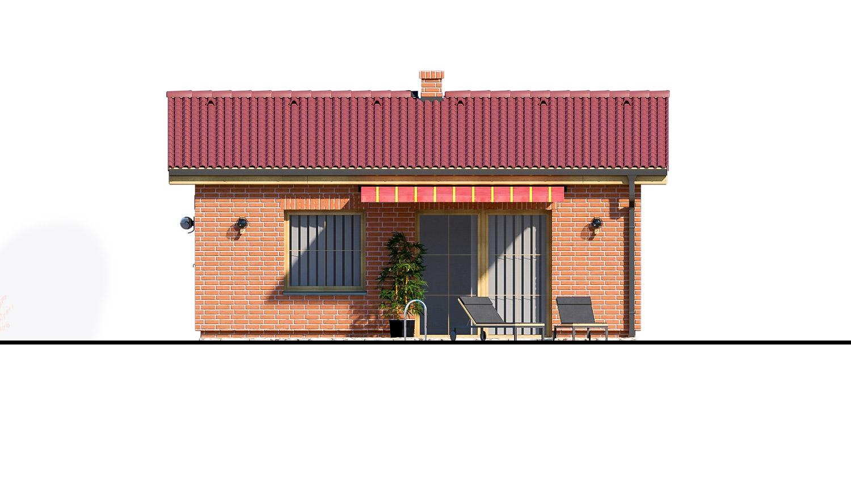 Pohľad 3. - Malý dvojizbový rodinný domček vhodný aj ako rekreačný dom. Jednoduchý a lacný na výstavbu.