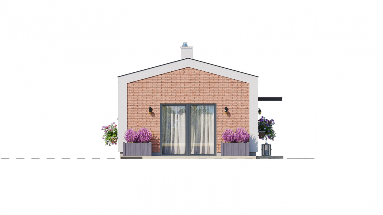 Pohľad 4. - Ekonomický rodinný domček pre 2 člennú rodinu.