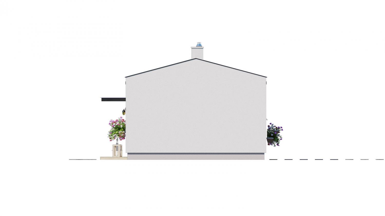 Pohľad 2. - Ekonomický rodinný domček pre 2 člennú rodinu.