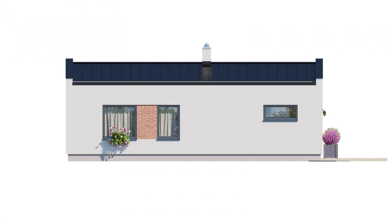 Pohľad 3. - Ekonomický rodinný domček pre 2 člennú rodinu.