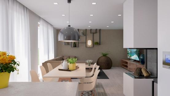 Interiér rodinného domu Bungalow 221