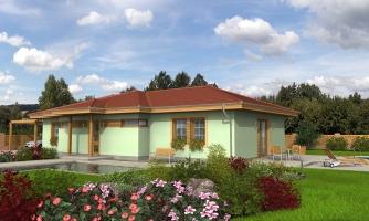 4-izbový rodinný dom na úzky pozemok.