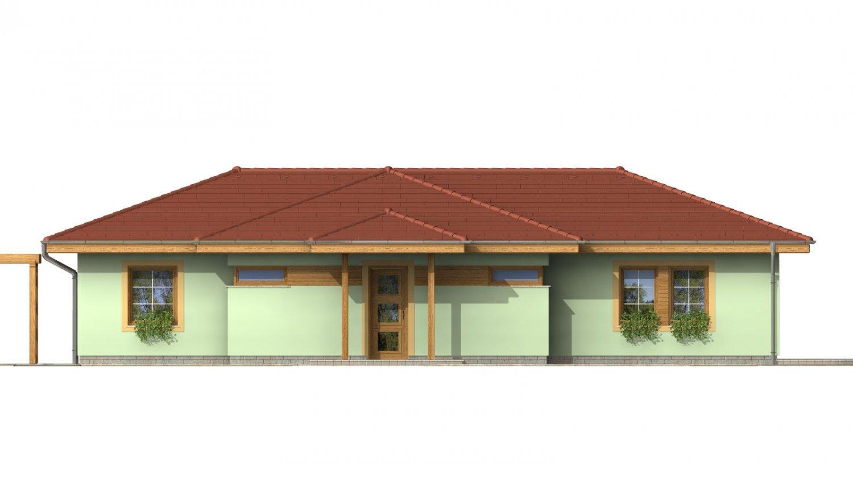 Pohľad 1. - Rodinný dom na úzky pozemok