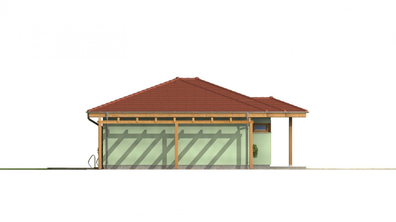 Pohľad 2. - Rodinný dom na úzky pozemok