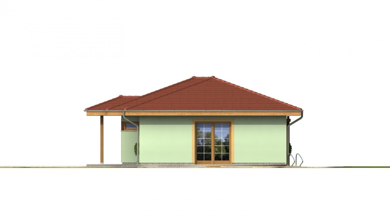 Pohľad 4. - Rodinný dom na úzky pozemok
