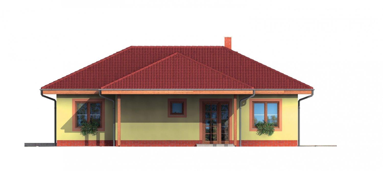 Pohľad 1. - Pekný rodinný dom s krytou terasou a prístreškom pre dve autá.