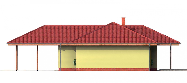 Pohľad 2. - Pekný rodinný dom s krytou terasou a prístreškom pre dve autá.