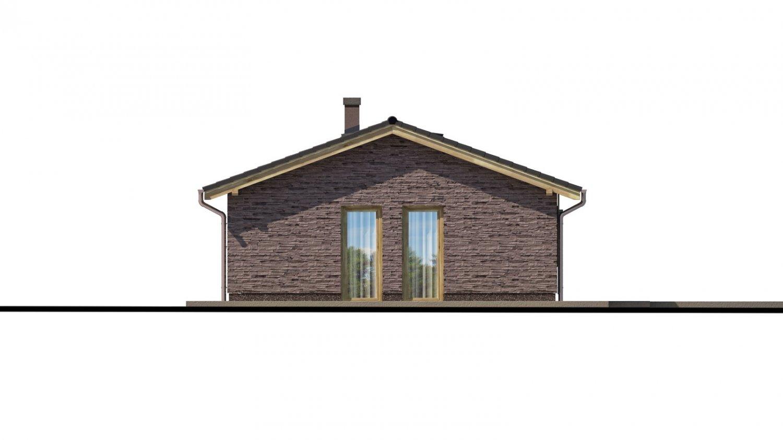 Pohľad 4. - Malý rodinný dom na úzky pozemok s prekrytou terasou