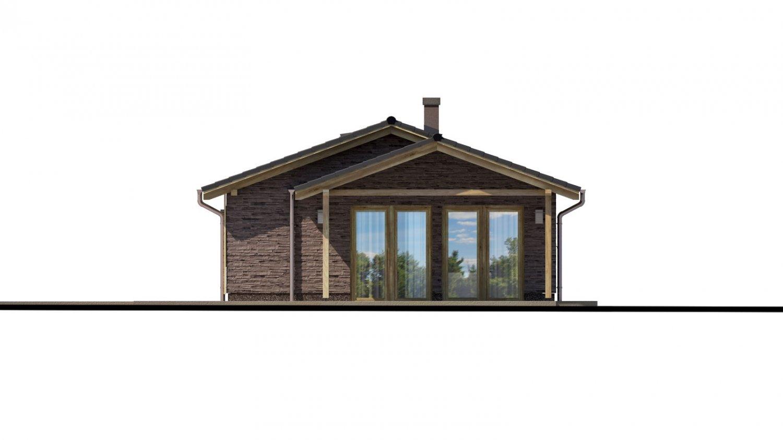 Pohľad 2. - Malý rodinný dom na úzky pozemok s prekrytou terasou
