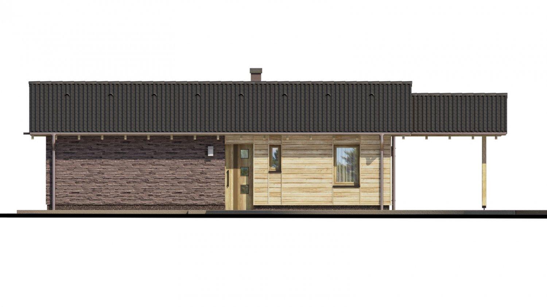 Pohľad 1. - Malý rodinný dom na úzky pozemok s prekrytou terasou