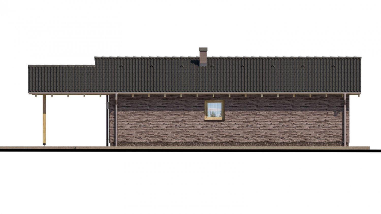 Pohľad 3. - Malý rodinný dom na úzky pozemok s prekrytou terasou
