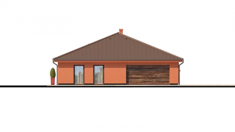 Pohľad 4. - Exkluzívny jednoduchý dom s dvojgarážou a krytou terasou na sedenie