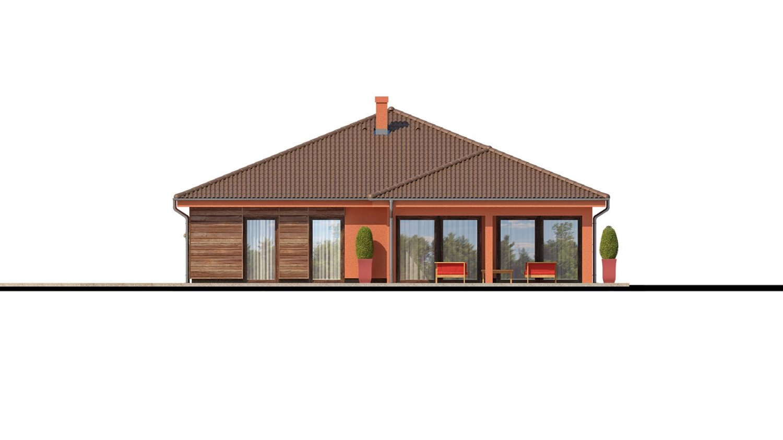 Pohľad 2. - Exkluzívny jednoduchý dom s dvojgarážou a krytou terasou na sedenie