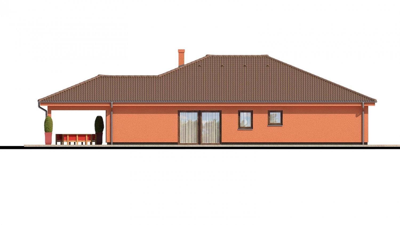 Pohľad 3. - Exkluzívny jednoduchý dom s dvojgarážou a krytou terasou na sedenie