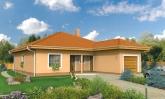 Projekt domu s jedno garážou