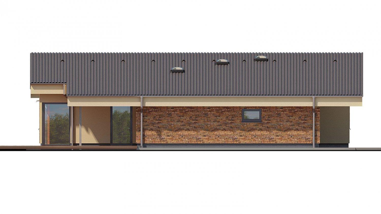 Pohľad 4. - Rodinný dom s pultovými strechami a garážou, možnosť výstavby bez garáže