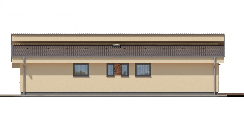 Pohľad 2. - Rodinný dom s pultovými strechami a garážou, možnosť výstavby bez garáže