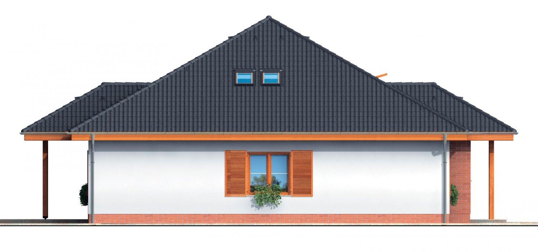Pohľad 2. - Zaujímavý projekt domu so stanovou strechou a  s obytným podkrovím.