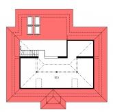 Zrkadlový obraz | Pôdorys poschodia - BUNGALOW 33