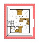 Pôdorys poschodia - BUNGALOW 35