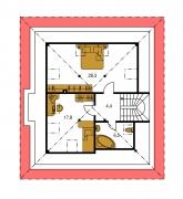 Zrkadlový obraz | Pôdorys poschodia - BUNGALOW 35