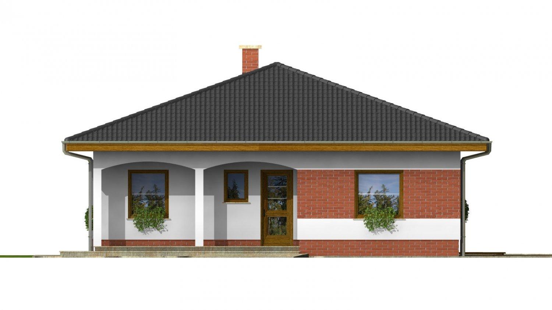 Pohľad 1. - Projekt rodinného domu so stanovou strechou