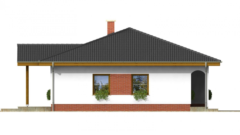 Pohľad 2. - Projekt rodinného domu so stanovou strechou