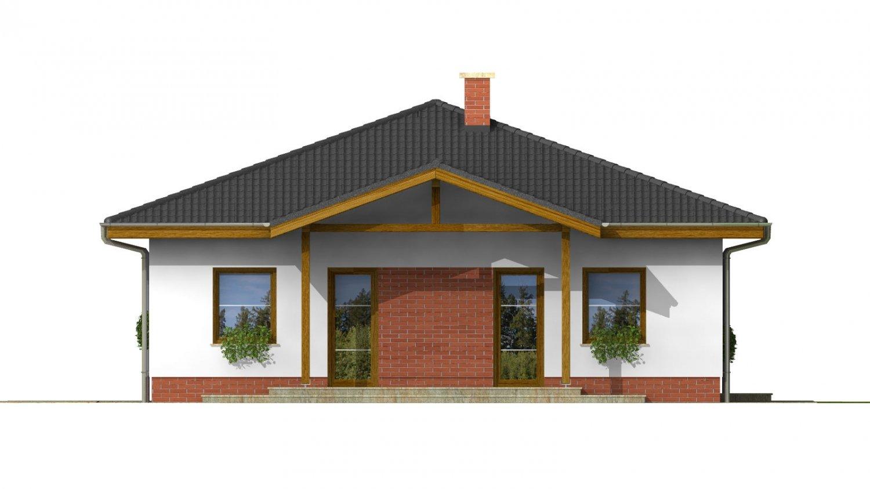 Pohľad 3. - Projekt rodinného domu so stanovou strechou
