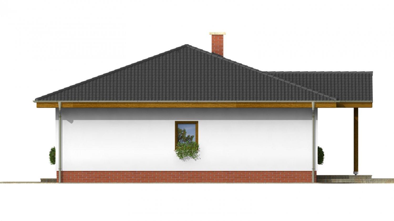 Pohľad 4. - Projekt rodinného domu so stanovou strechou